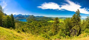 Paesaggio di fantasia in hohenschwangau Immagine Stock