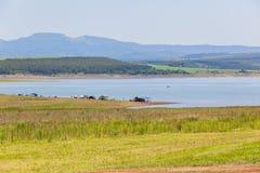 Paesaggio di festa dei pescherecci della diga Fotografia Stock Libera da Diritti