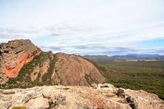 Paesaggio di formazione rocciosa di Grampians Fotografia Stock