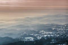 Paesaggio di fotografia aerea delle alpi Immagini Stock