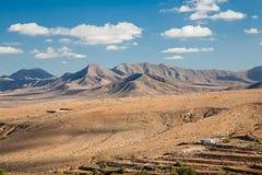 Paesaggio di Fuerteventura, isole Canarie immagine stock