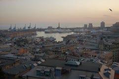 Paesaggio di Genova immagini stock