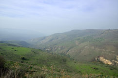 Paesaggio di Golan Heights, Israele Fotografia Stock
