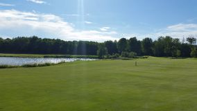 Paesaggio di golf Immagini Stock Libere da Diritti