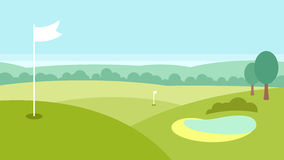 Paesaggio di golf Fotografie Stock