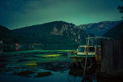 Paesaggio di golf di Mraconia, Romania Immagini Stock