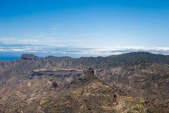 Paesaggio di Gran Canaria Roque Nublo fotografia stock libera da diritti
