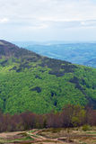 Paesaggio di grande montagna verde con gli alberi Fotografie Stock