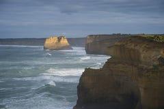 Paesaggio di grande strada dell'oceano in Victoria Australia Fotografie Stock Libere da Diritti