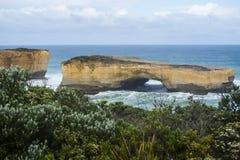 Paesaggio di grande strada dell'oceano in Victoria Australia Fotografia Stock Libera da Diritti