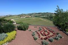 Paesaggio di Grinzane Cavour fotografie stock