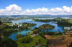 Paesaggio di Guatape, Colombia Immagine Stock Libera da Diritti