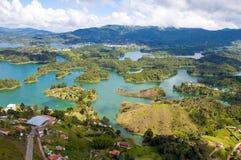 Paesaggio di Guatape, Colombia Fotografie Stock