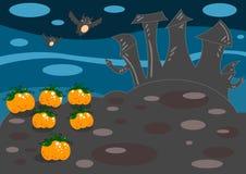 Paesaggio di Halloween Immagine Stock Libera da Diritti