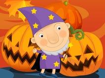 Paesaggio di Halloween del fumetto Fotografia Stock