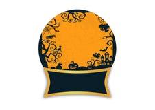 Paesaggio di Halloween isolato Immagine Stock Libera da Diritti