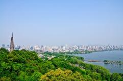 Paesaggio di Hangzhou fotografie stock