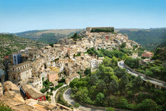 Paesaggio di Ibla Sicilia Fotografie Stock Libere da Diritti