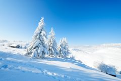 Paesaggio di inverno Fotografie Stock Libere da Diritti