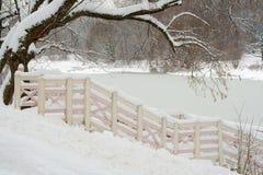 Paesaggio di inverno. Fotografie Stock