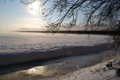Paesaggio di inverno. Fotografia Stock