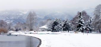 Paesaggio di inverno fotografie stock