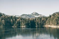 Paesaggio di inverno al Hechtsee Immagine Stock Libera da Diritti