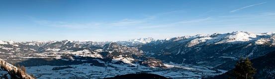 Paesaggio di inverno alla strada di panorama di Rossfeld. Immagini Stock Libere da Diritti