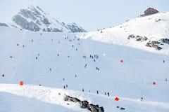 Paesaggio di inverno in alpi Fotografie Stock Libere da Diritti