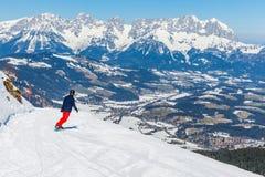 Paesaggio di inverno in alpi Immagini Stock