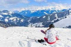 Paesaggio di inverno in alpi Immagine Stock Libera da Diritti