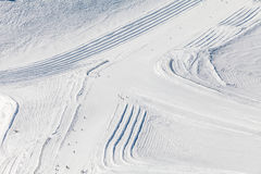 Paesaggio di inverno in alpi Fotografie Stock