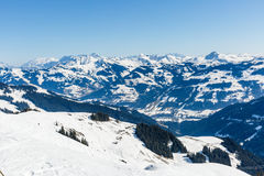 Paesaggio di inverno in alpi Immagini Stock Libere da Diritti