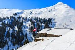 Paesaggio di inverno in alpi Fotografia Stock Libera da Diritti