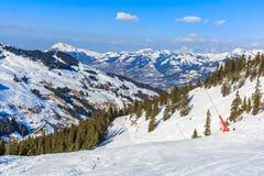 Paesaggio di inverno in alpi Fotografia Stock