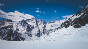 Paesaggio di inverno in alpi austriache Immagine Stock