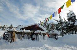 Paesaggio di inverno - alpi francesi Immagine Stock