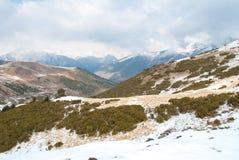 Paesaggio di inverno a Boi Taull Fotografia Stock Libera da Diritti