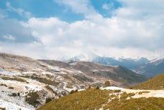 Paesaggio di inverno a Boi Taull Immagine Stock