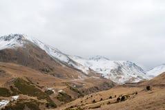 Paesaggio di inverno a Boi Taull Fotografie Stock