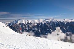 Paesaggio di inverno in cattivo Hofgastein, Austria Fotografie Stock Libere da Diritti