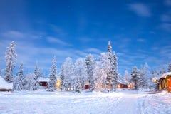 Paesaggio Svezia Lapponia di inverno Immagini Stock Libere da Diritti