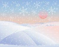 Paesaggio di inverno con la strada Royalty Illustrazione gratis