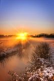 Paesaggio di inverno con lo sguardo di colore Fotografie Stock