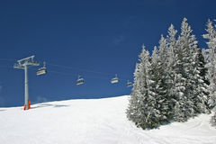 Paesaggio di inverno dall'Austria Fotografie Stock Libere da Diritti