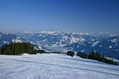 Paesaggio di inverno dall'Austria Fotografia Stock