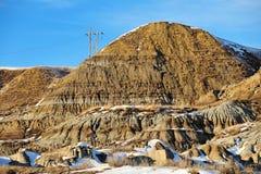 Paesaggio di inverno dei calanchi Fotografia Stock