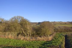Paesaggio di inverno dei wolds di Yorkshire Fotografie Stock Libere da Diritti