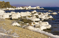 Paesaggio di inverno del mare. Immagini Stock Libere da Diritti