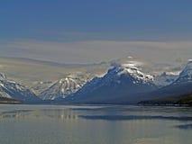 Paesaggio di inverno del McDonald del lago Fotografia Stock
